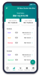 Invoice software on mobile